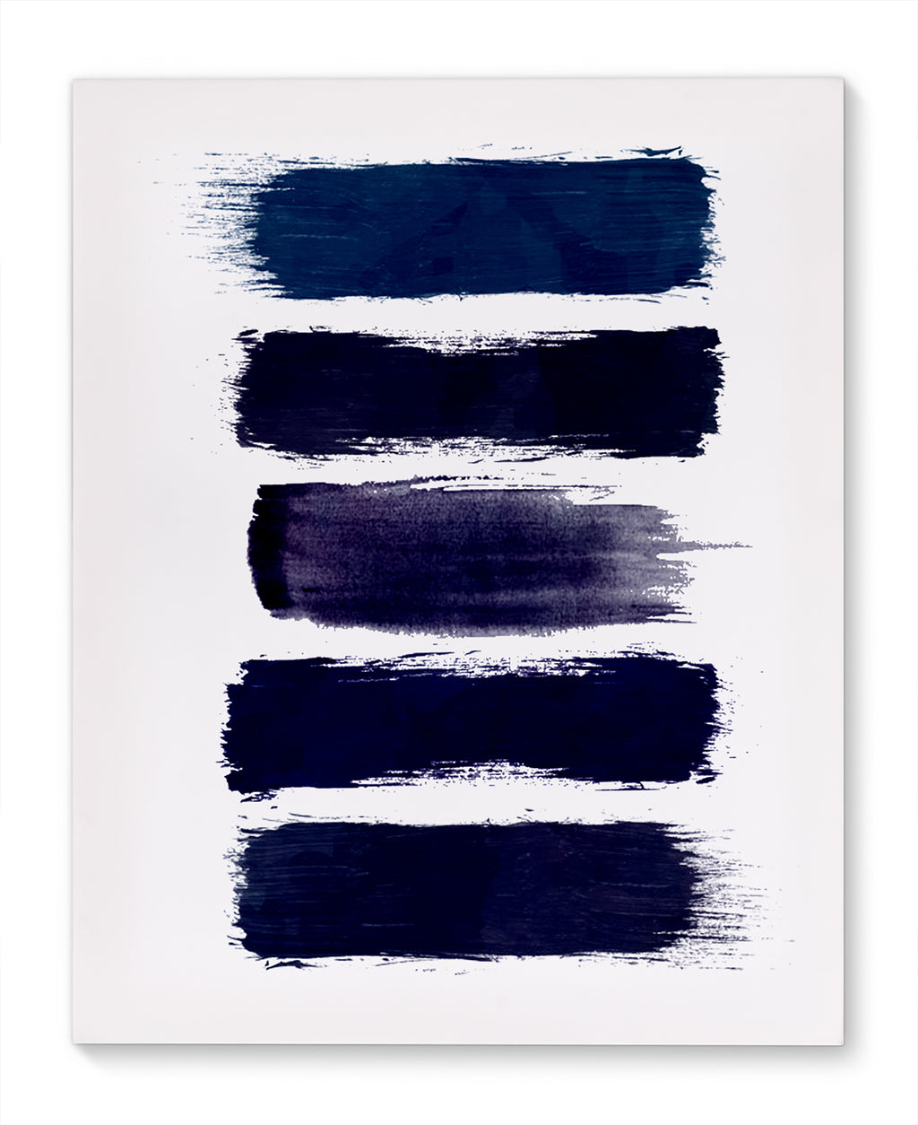 BLUE PAINT STRIPES Canvas Art By Honeytree Prints