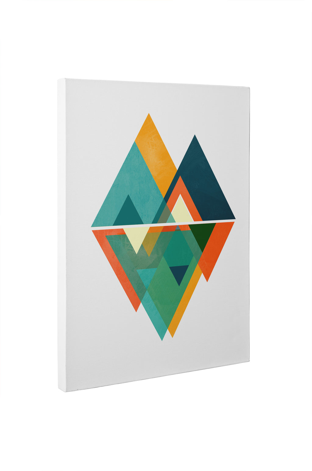 NEW TRIANGLES Canvas Art By Honeytree Prints
