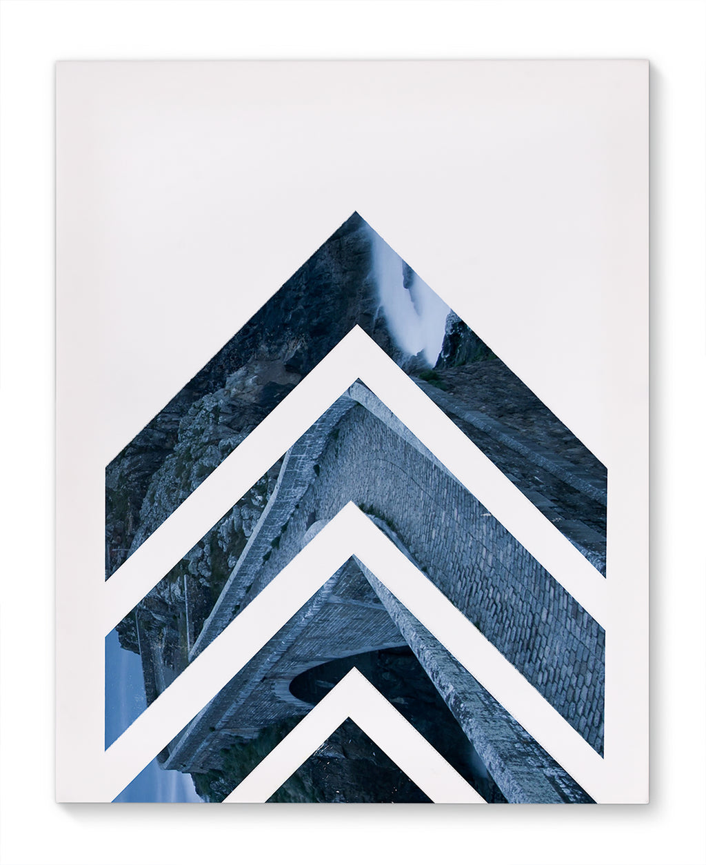 NORDIC ARROWS BLUE Canvas Art By Honeytree Prints