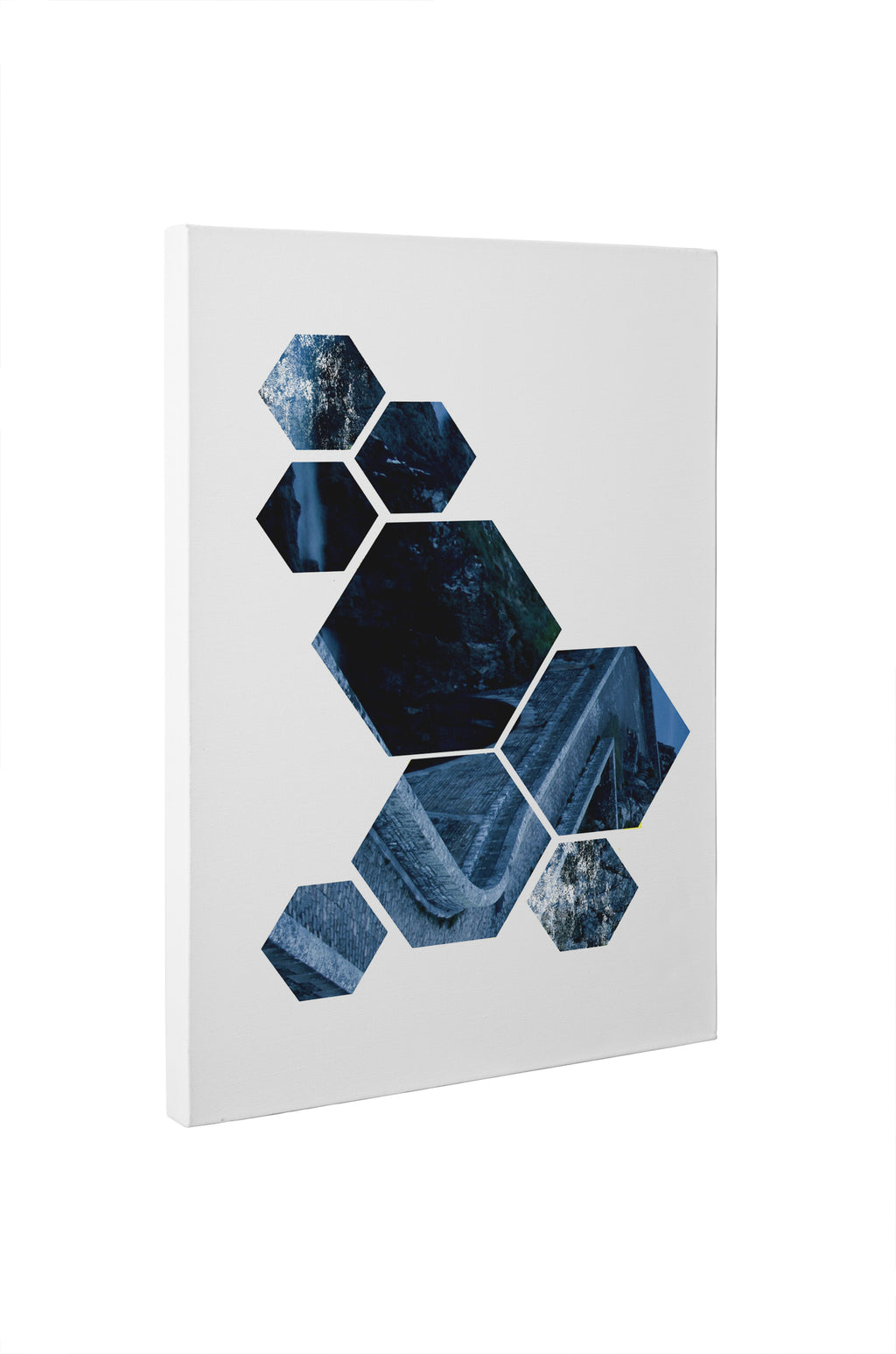 NORDIC SHAPES BLUE Canvas Art By Honeytree Prints