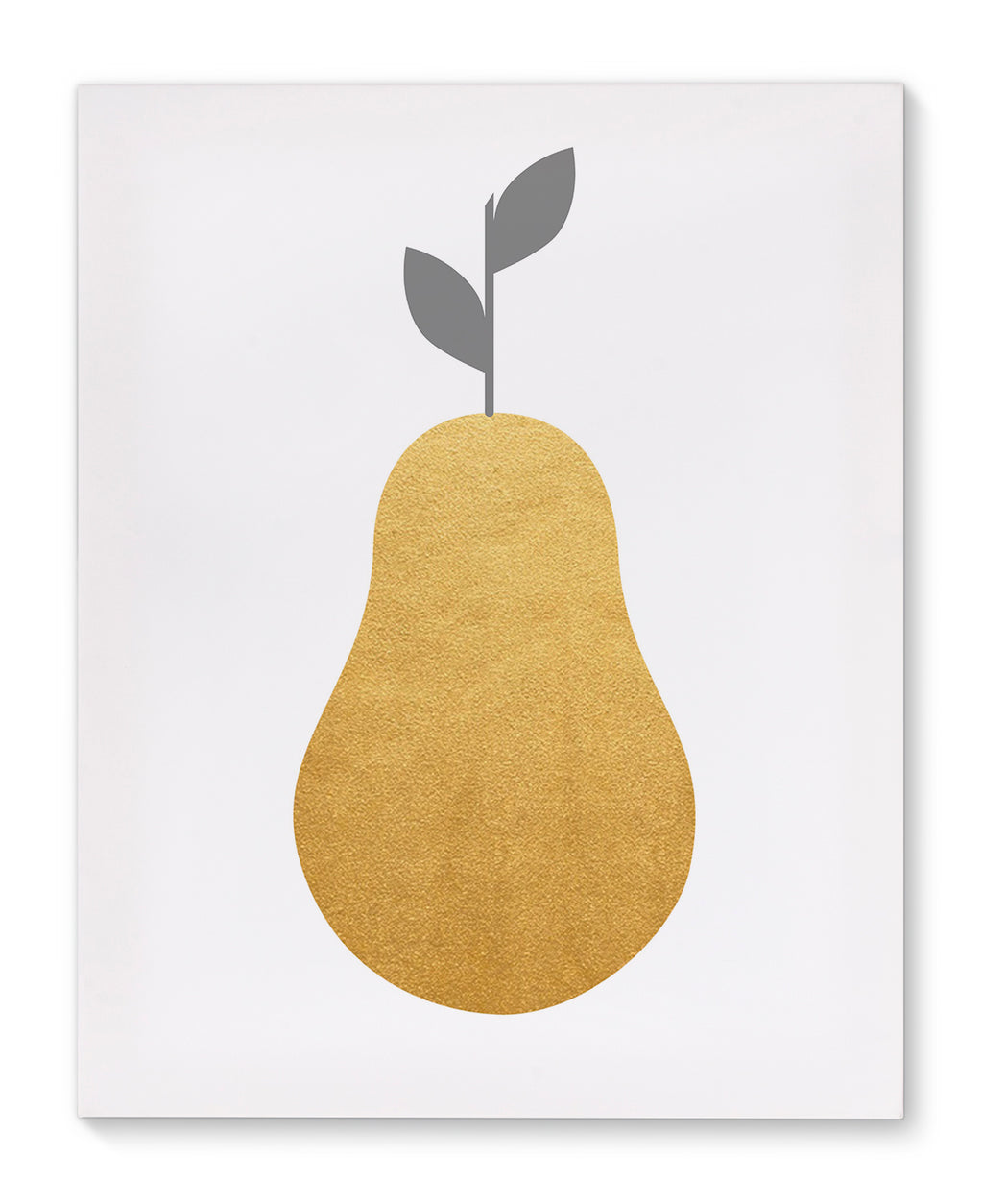 GOLD PEAR Canvas Art By Honeytree Prints