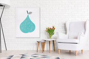 PEAR Canvas Art By Honeytree Prints