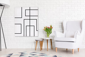 RETRO LINES Canvas Art By Honeytree Prints