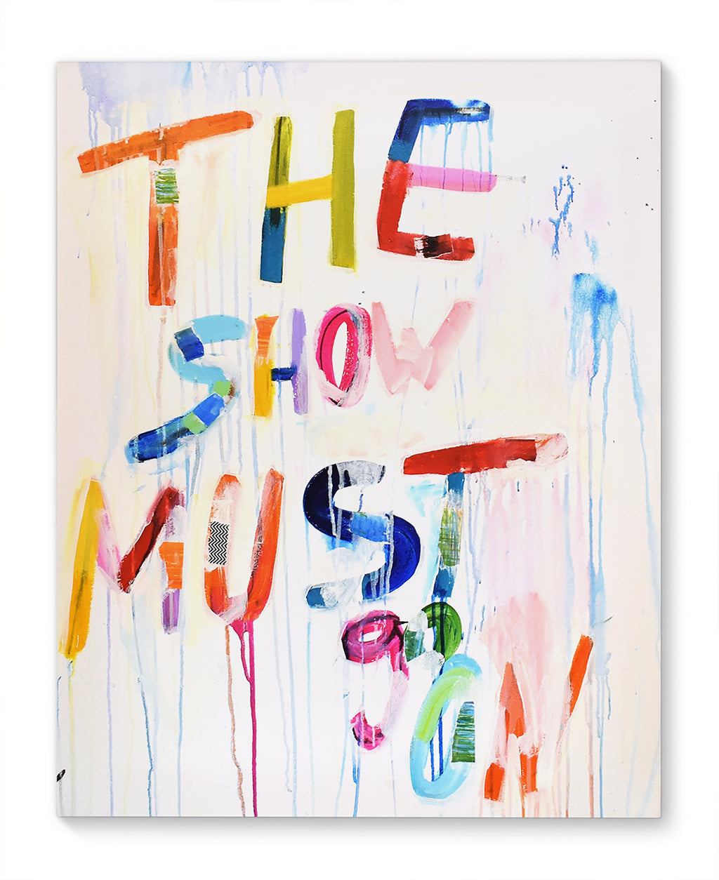THE SHOW MUST GO ON Canvas Art By Jolina Anthony