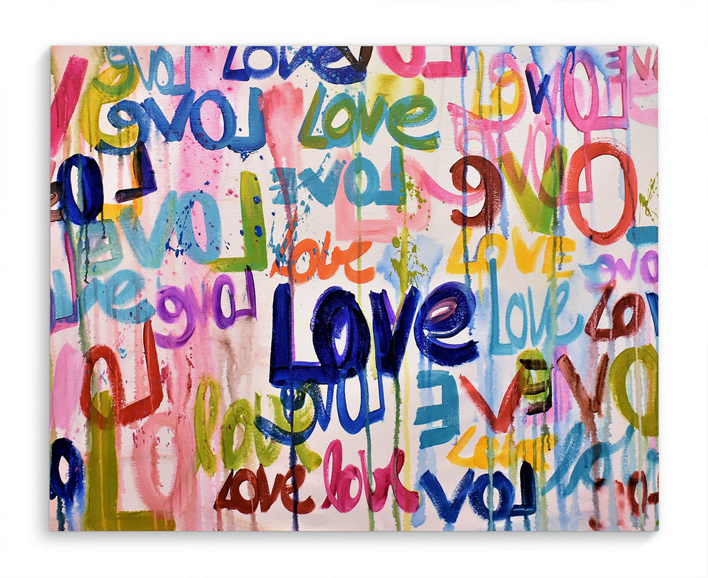 ABSTRACT LOVE Canvas Art By Jolina Anthony