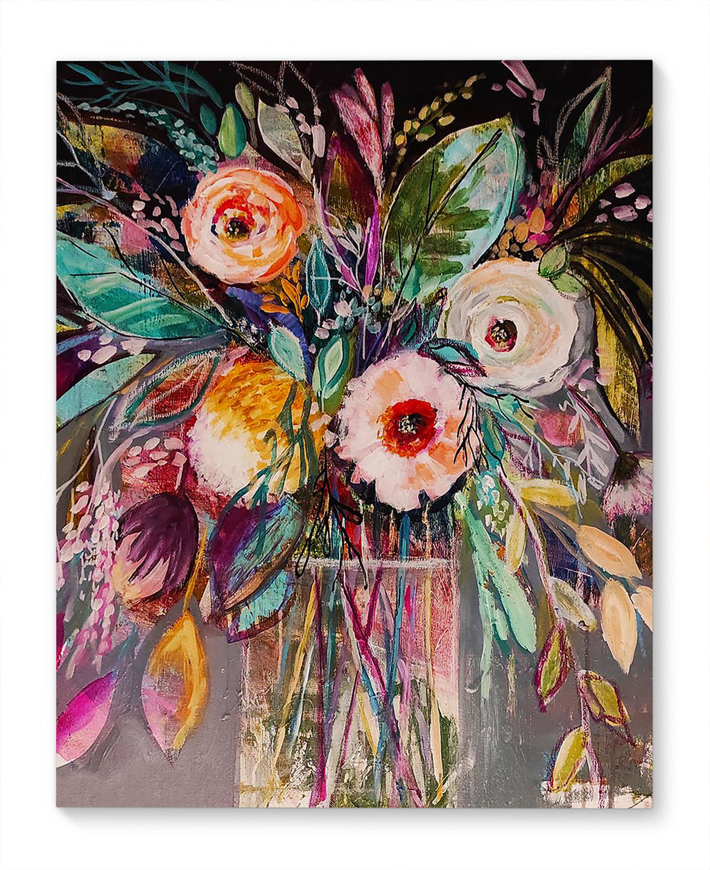 FLORAL BOUQUET Canvas Art By Jolina Anthony