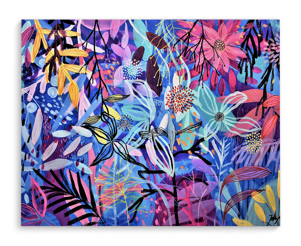 FLORAL JUNGLE Canvas Art By Jolina Anthony