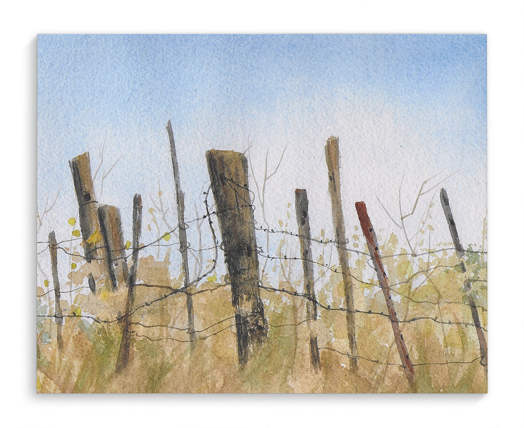 FENCE Canvas Art By Jayne Conte