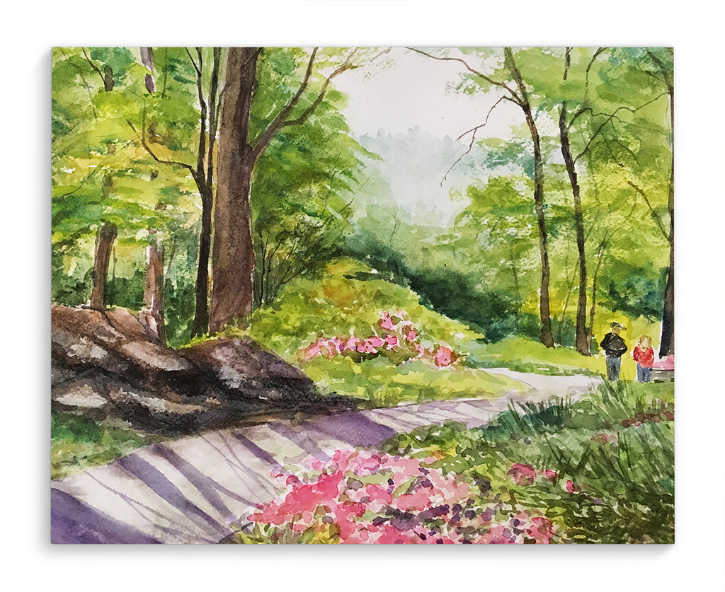 PEACEFUL GARDEN Canvas Art By Jayne Conte