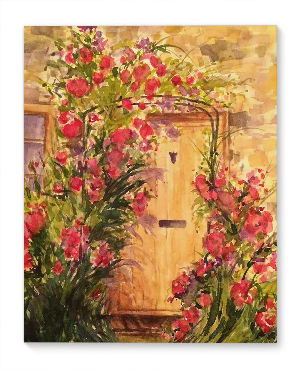ROSE DOOR Canvas Art By Jayne Conte