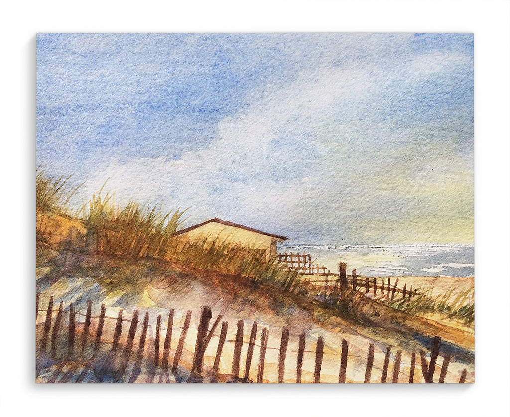 BEACH HUT Canvas Art By Jayne Conte