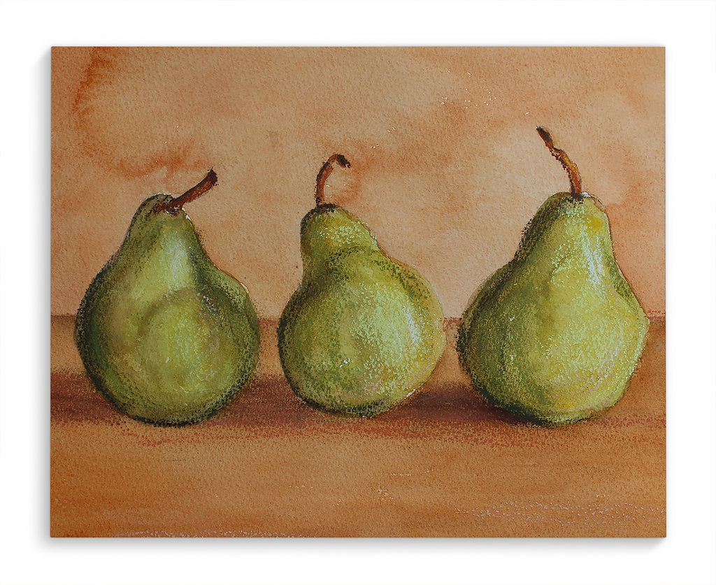 THREE PEARS Canvas Art By Jayne Conte
