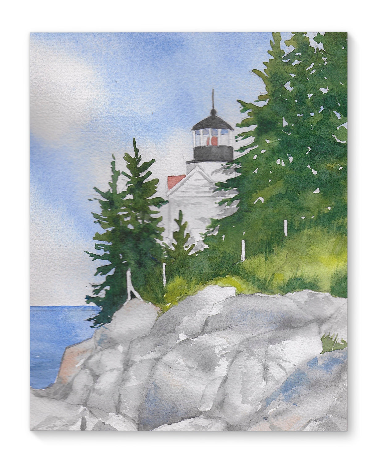 BASS HARBOR Premium Canvas Gallery Wraps By Jayne Conte