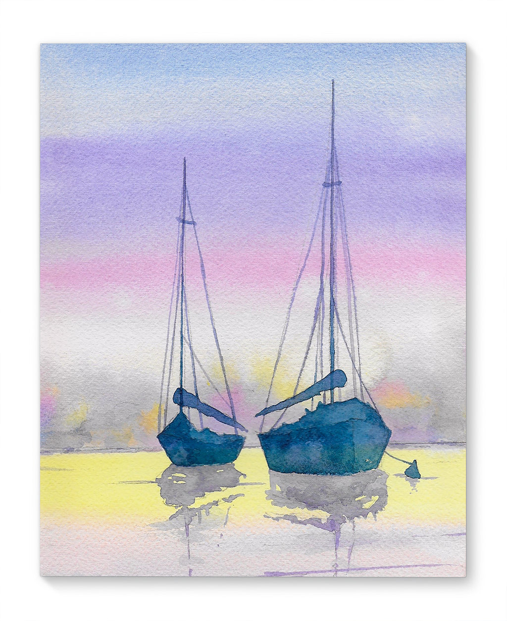 BOATS AT SUNSET Canvas Art By Jayne Conte