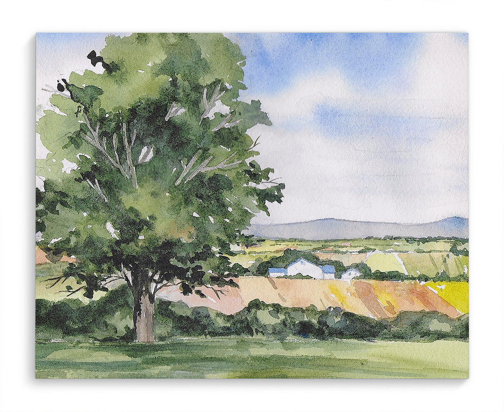 TREE AND FARM Canvas Art By Jayne Conte