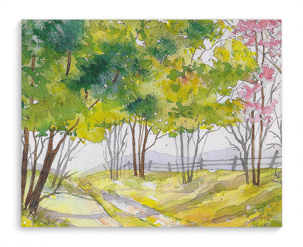 TREE LINED PATH Canvas Art By Jayne Conte