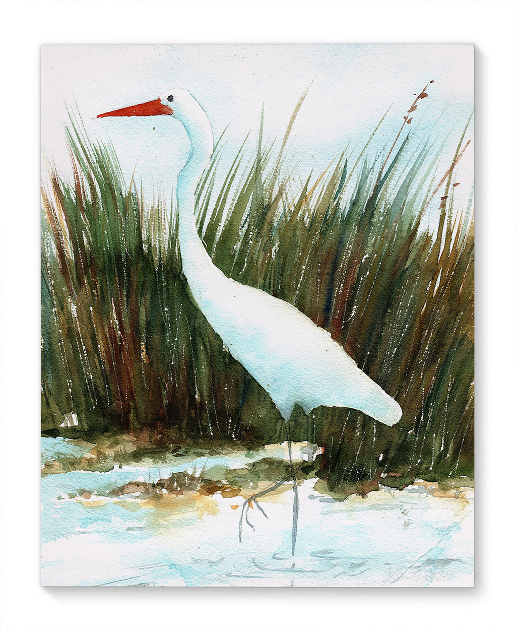 CRANE IN TALL GRASSES Canvas Art By Jayne Conte