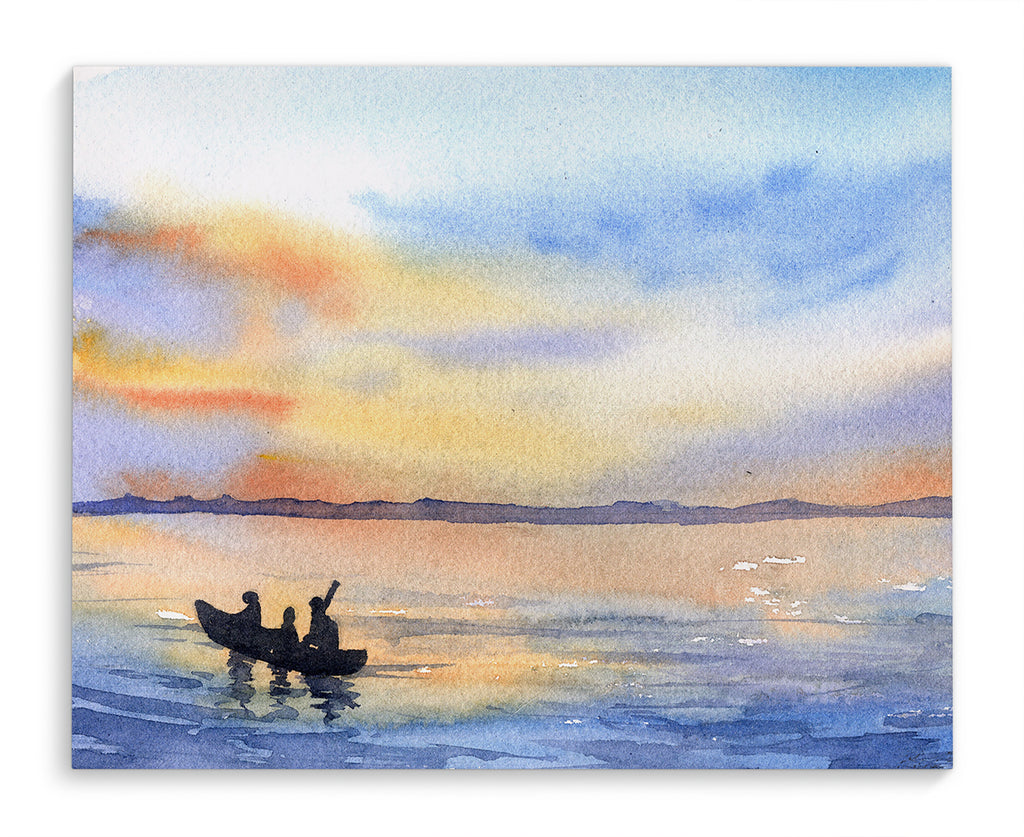 KAYAKING IN FIRE ISLAND Canvas Art By Jayne Conte