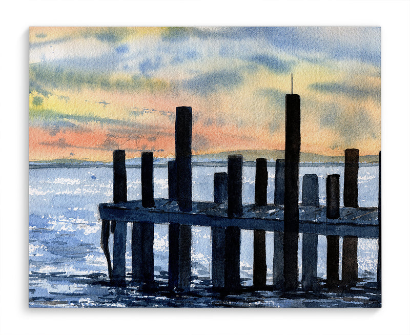 HARBOR PIER Canvas Art By Jayne Conte