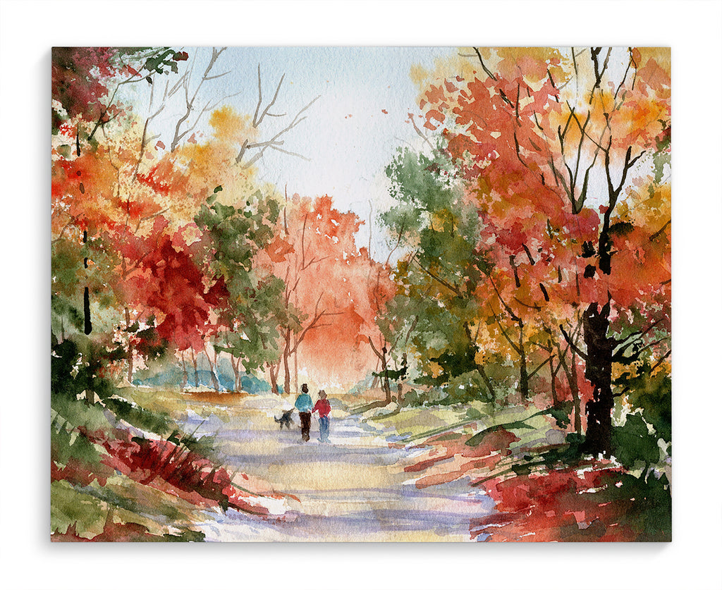 AUTUMN WALK Canvas Art By Jayne Conte
