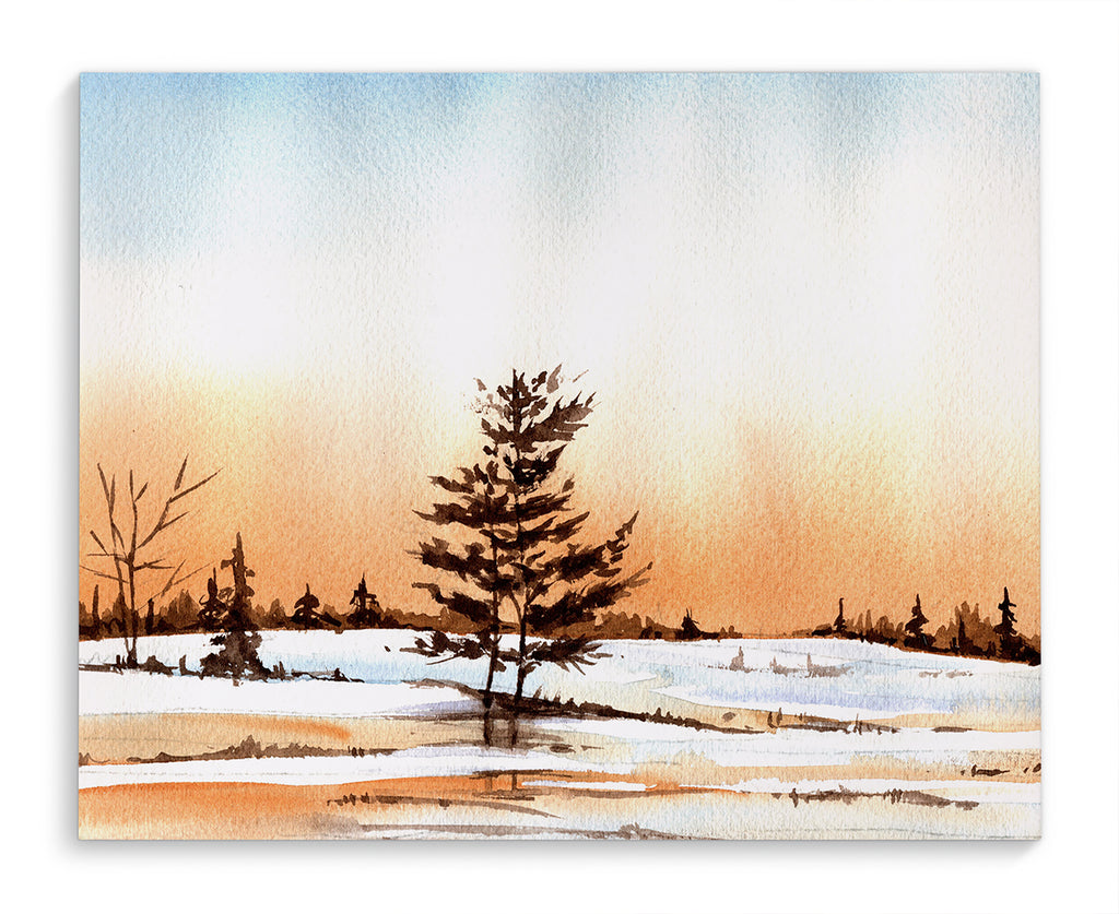 WINTER SUNSET Canvas Art By Jayne Conte