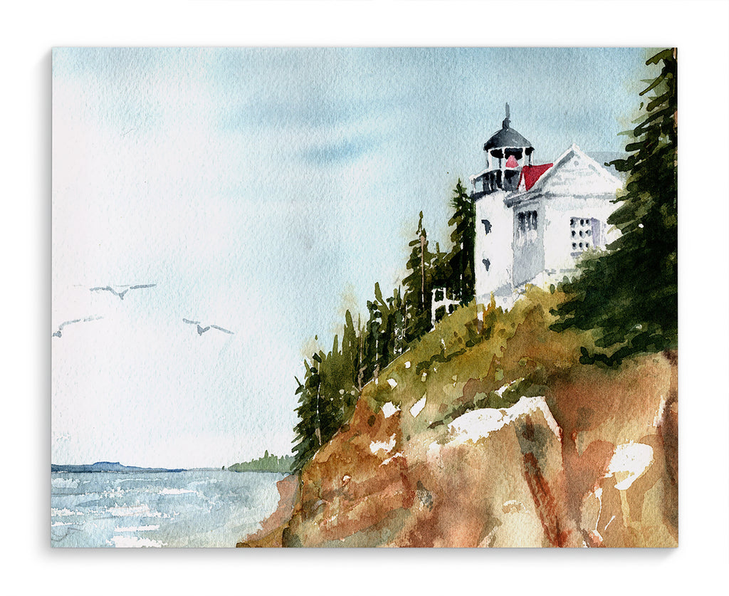 BASS HARBOR LIGHTHOUSE Canvas Art By Jayne Conte