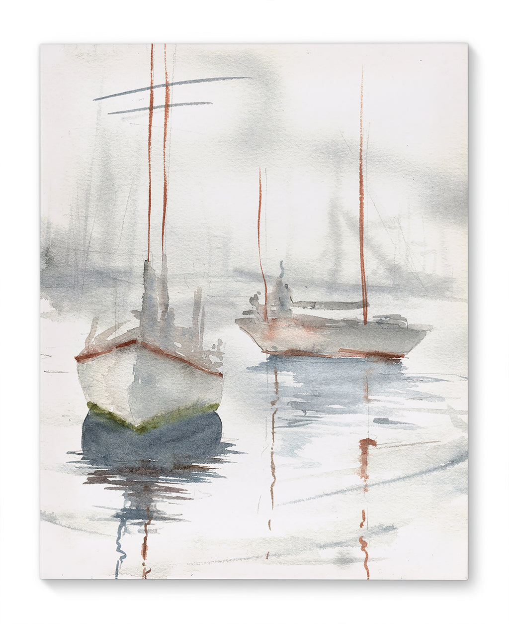 MISTY BOATS Canvas Art By Jayne Conte