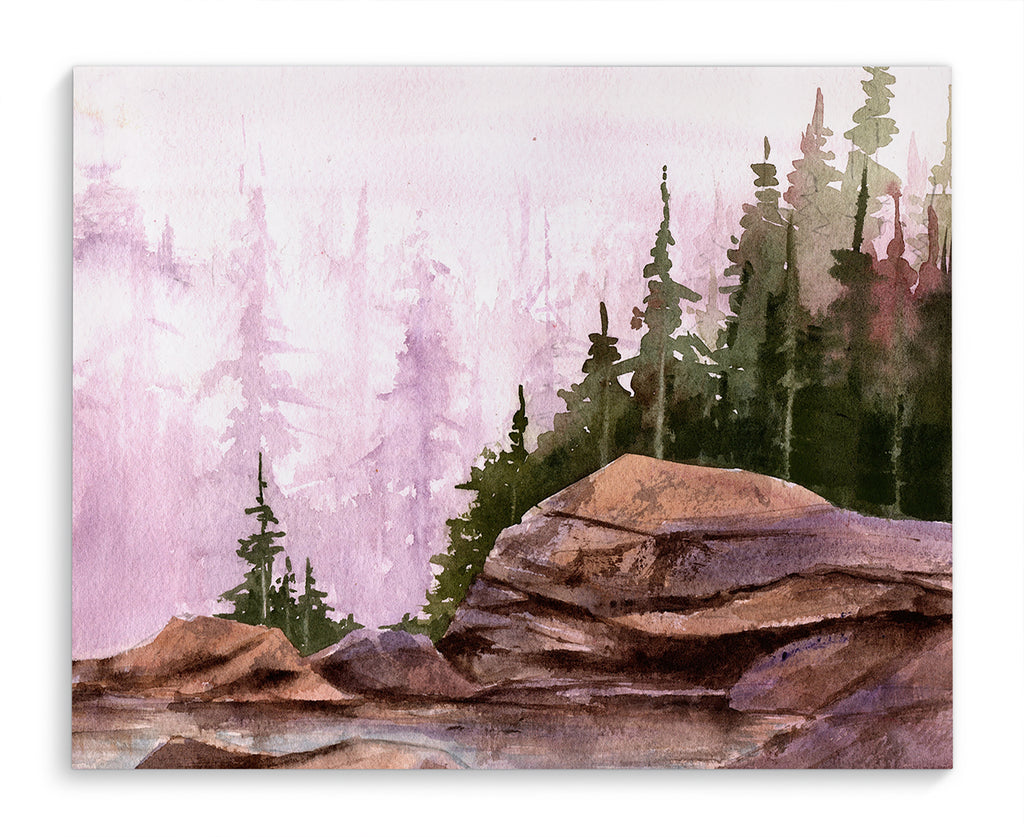 MISTY FOREST Canvas Art By Jayne Conte