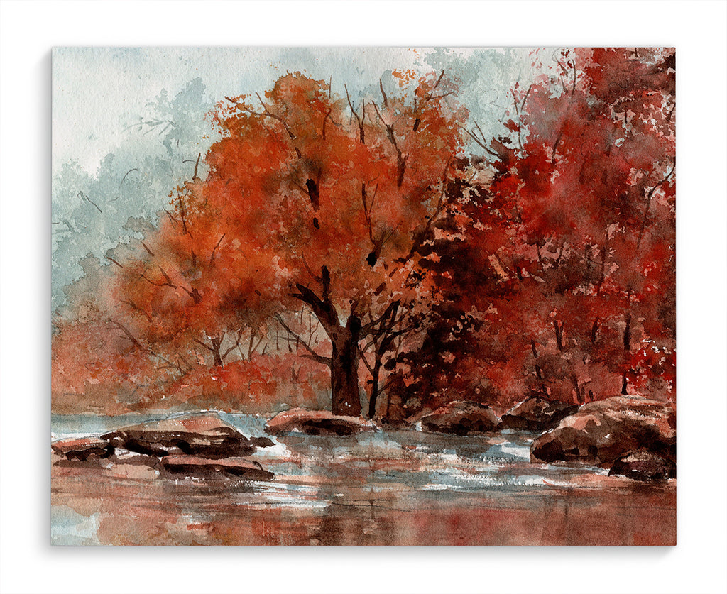AUTUMN STREAM Canvas Art By Jayne Conte