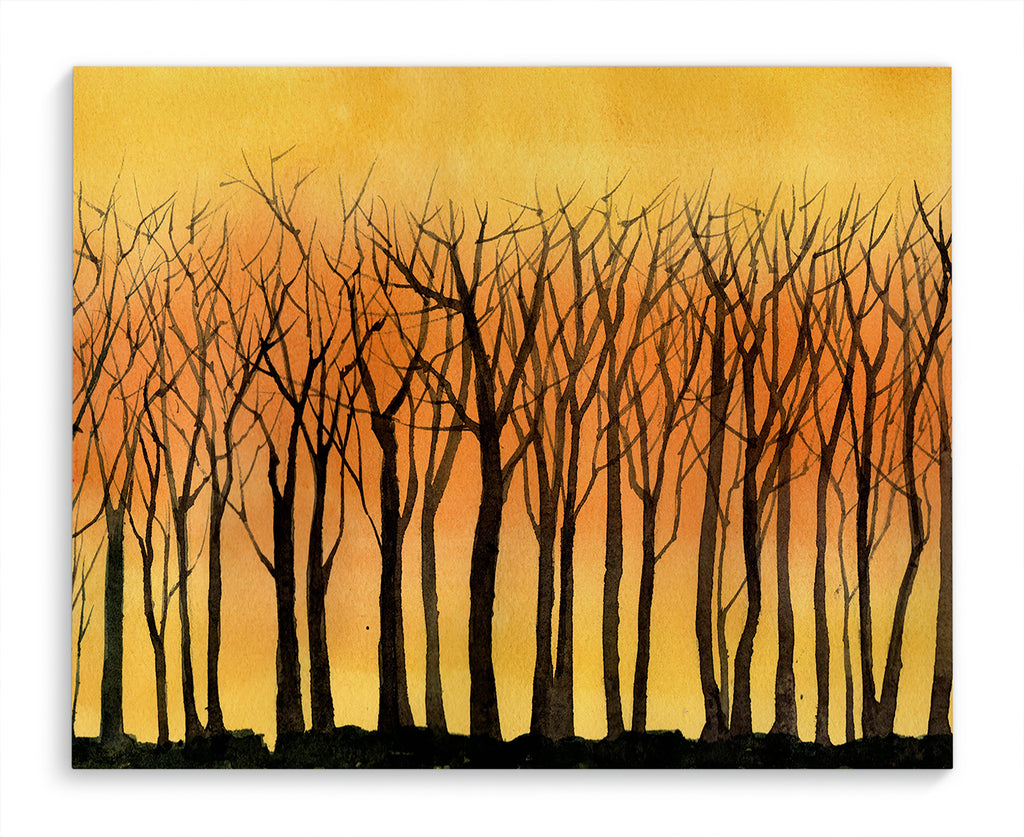 SUNSET TREE LINE Canvas Art By Jayne Conte