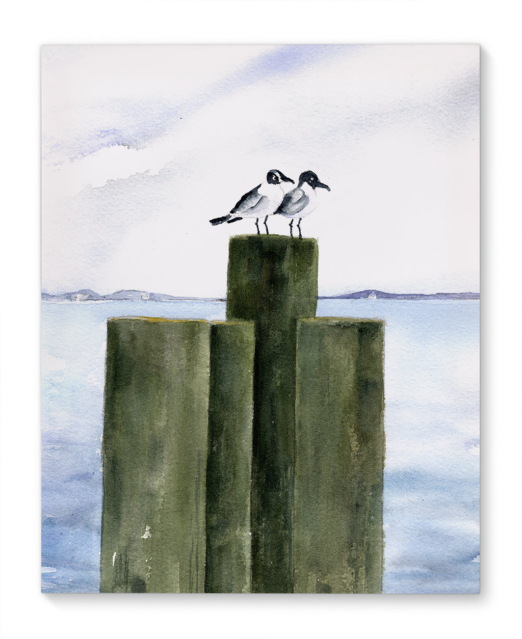 BIRDS ON PIERS Canvas Art By Jayne Conte
