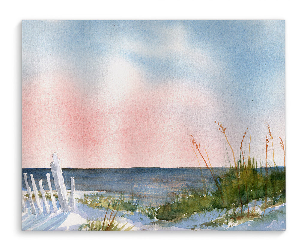 BEACH AT DAWN Canvas Art By Jayne Conte