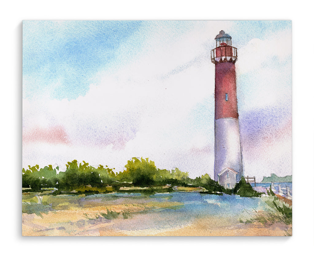 BARNEGAT BAY LIGHTHOUSE Canvas Art By Jayne Conte