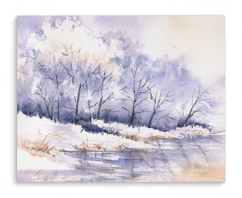 SNOWY RIVER Canvas Art By Jayne Conte