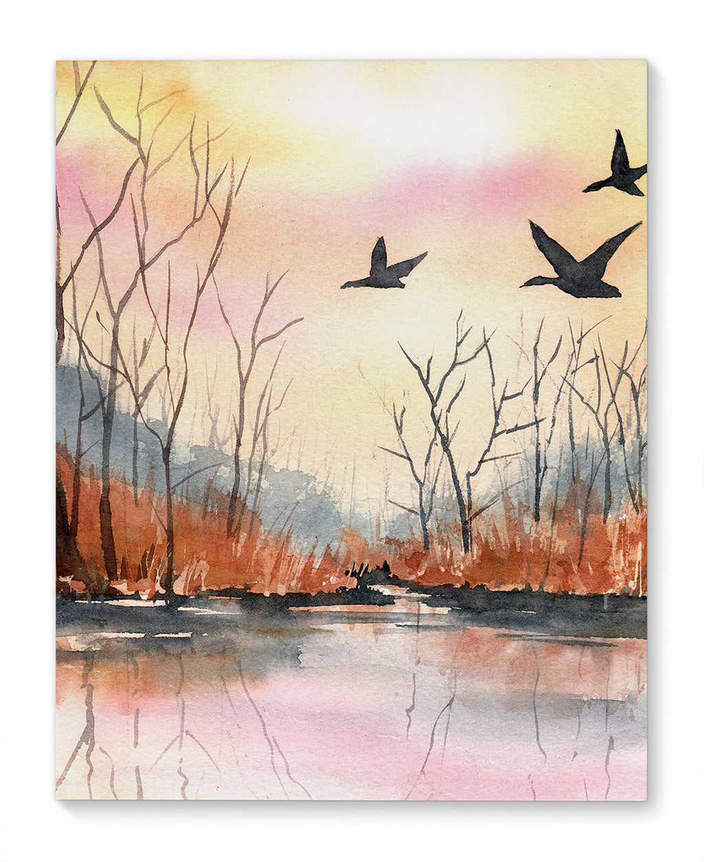 AUTUMN MARSH Canvas Art By Jayne Conte