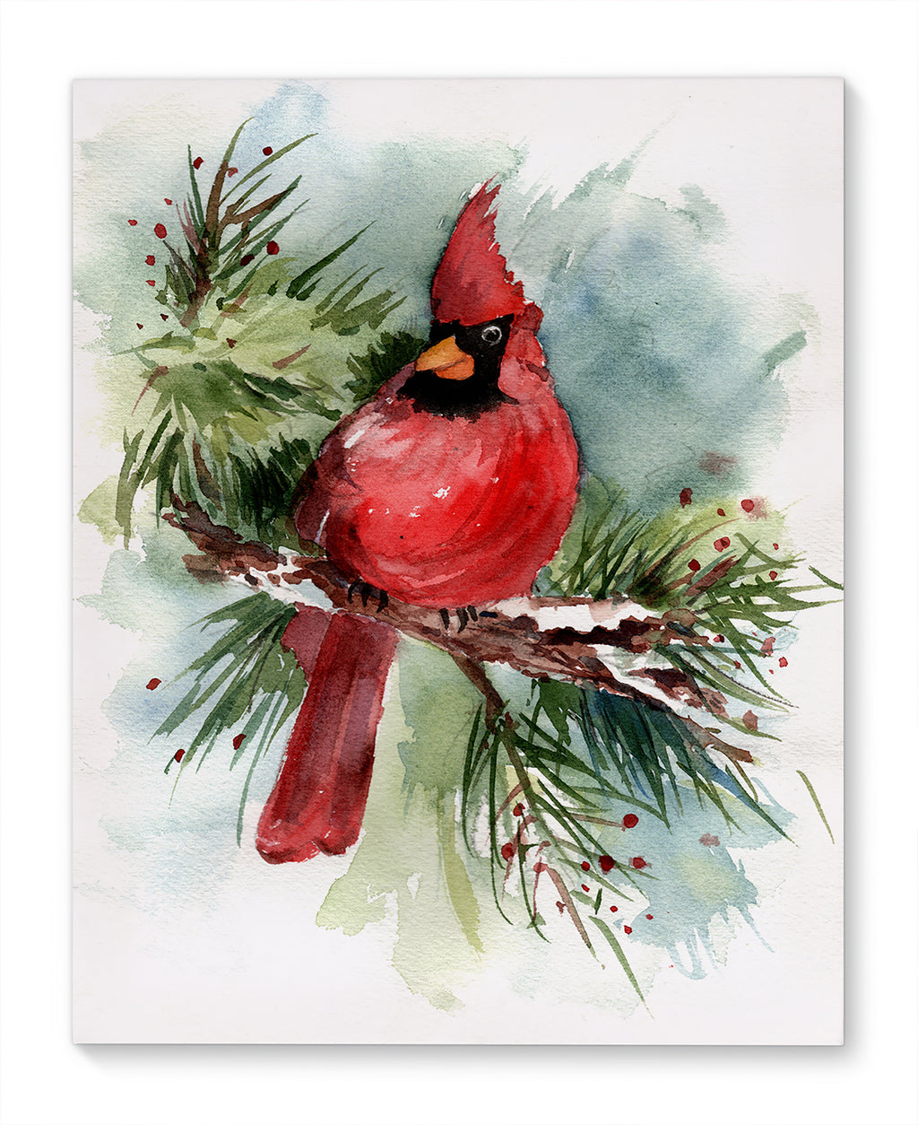 HOLIDAY CARDINAL Canvas Art By Jayne Conte