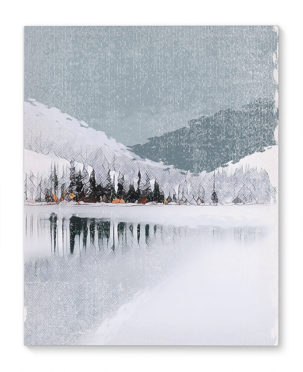 BY THE LAKE Canvas Art By Scandi Girl Studio