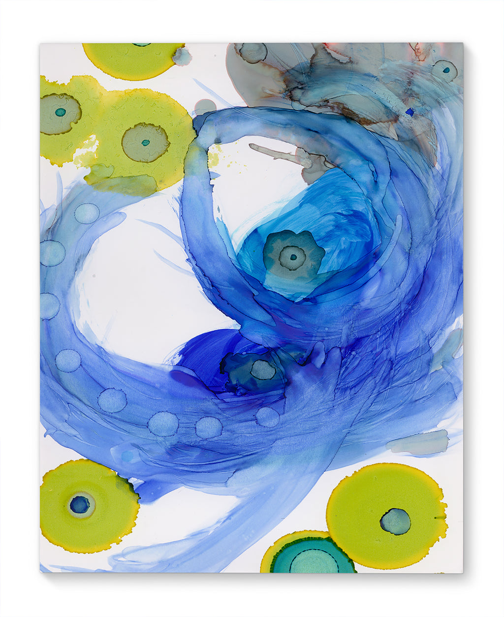 SWIRLS BLUE Canvas Ar By Olivia St. Claire
