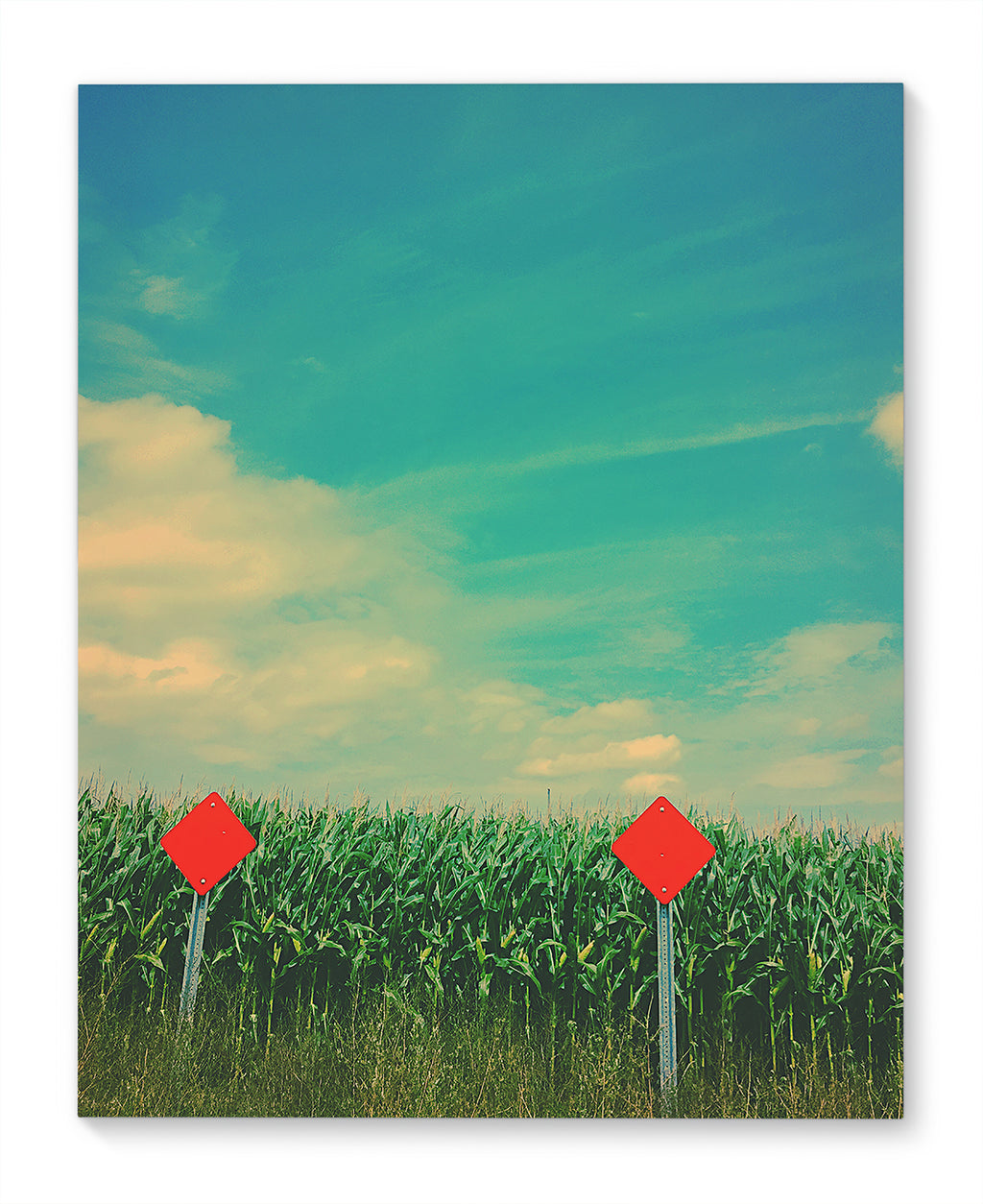 END OF THE ROAD Canvas Art By Olivia St Claire