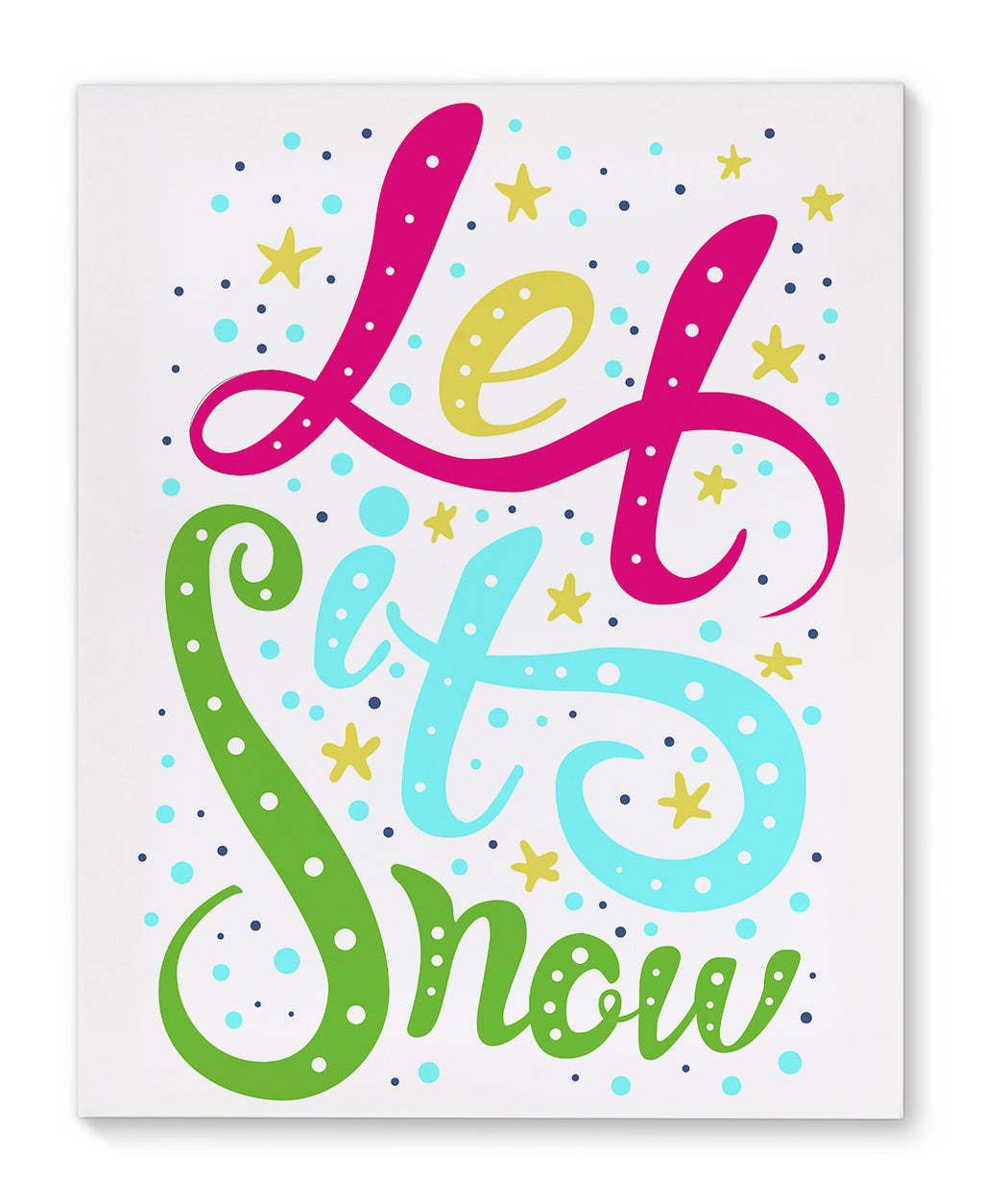 LET IT SNOW Premium Canvas Gallery Wraps By Terri Ellis