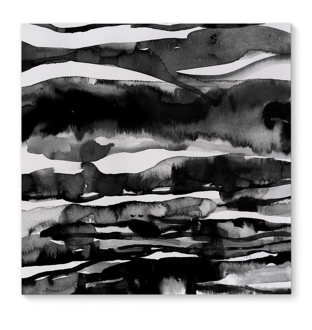 BLACK WHITE SCAPE Premium Canvas Gallery Wraps By Becca Garrison