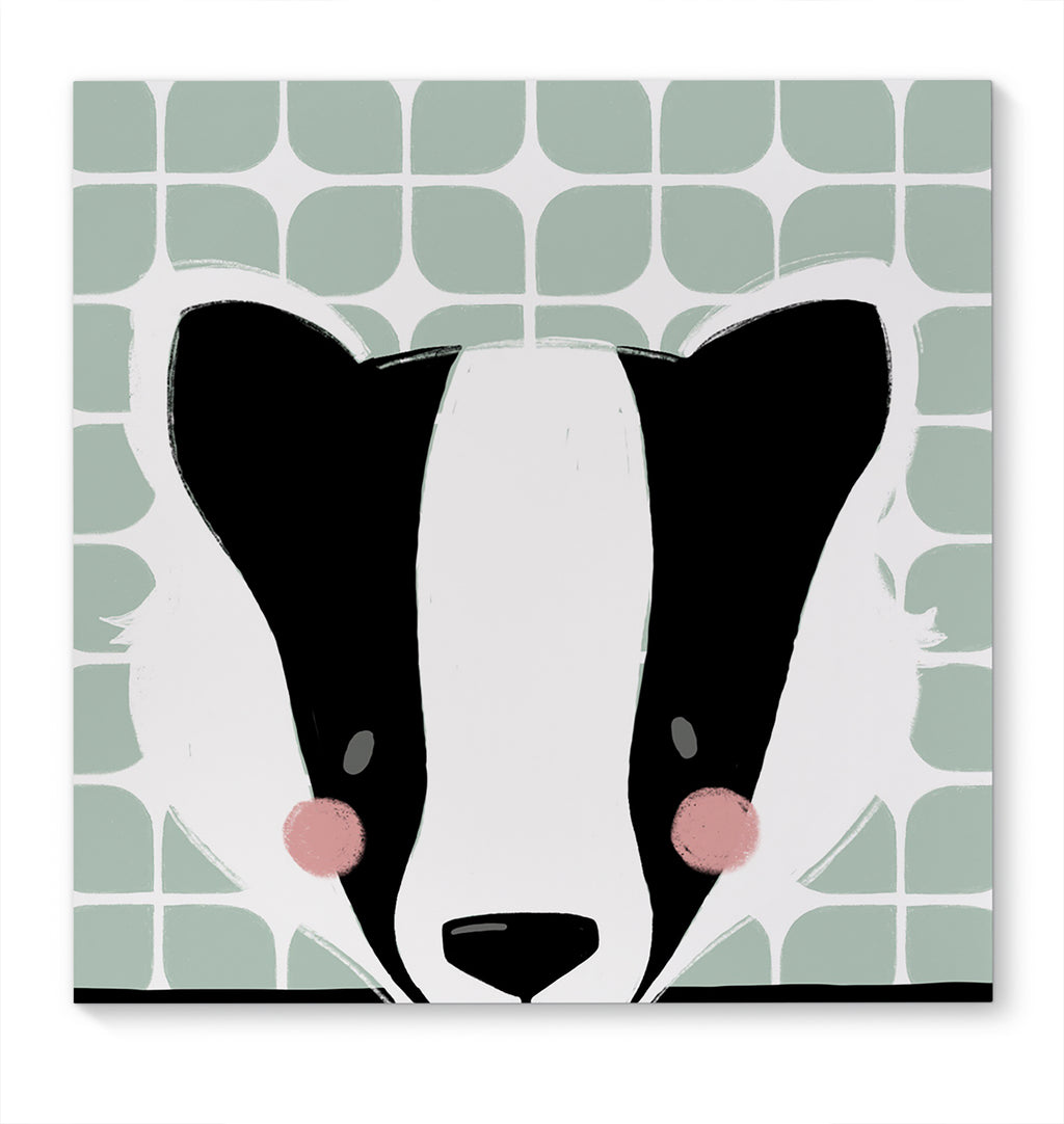 BADGER Canvas Art By Jen Jones