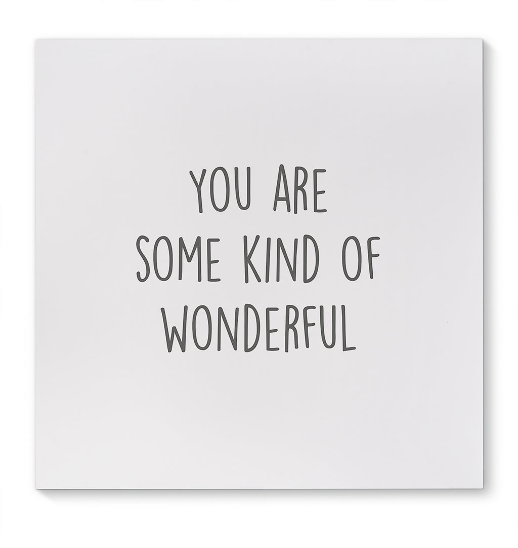 YOU ARE KIND AND WONDERFUL Canvas Art By Scandi Girl Studio
