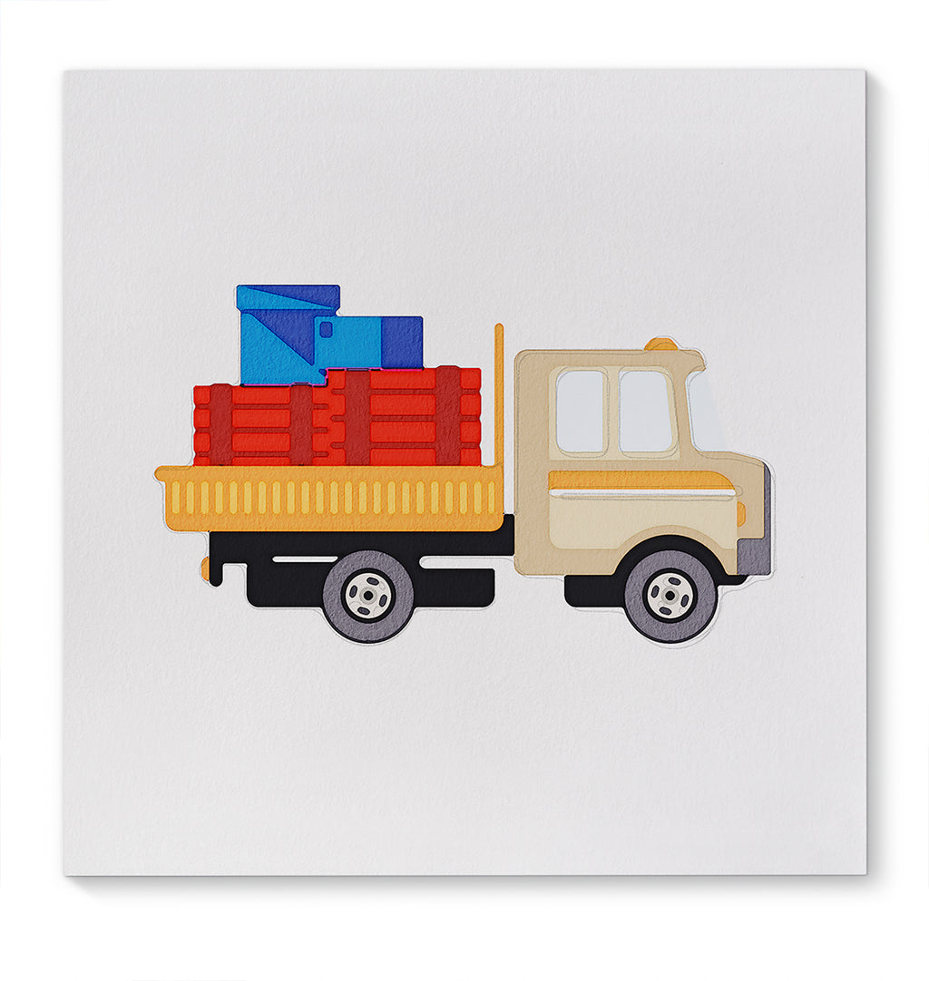 AUGUSTUS MULTICOLOR TRUCK Canvas Art By Terri Ellis