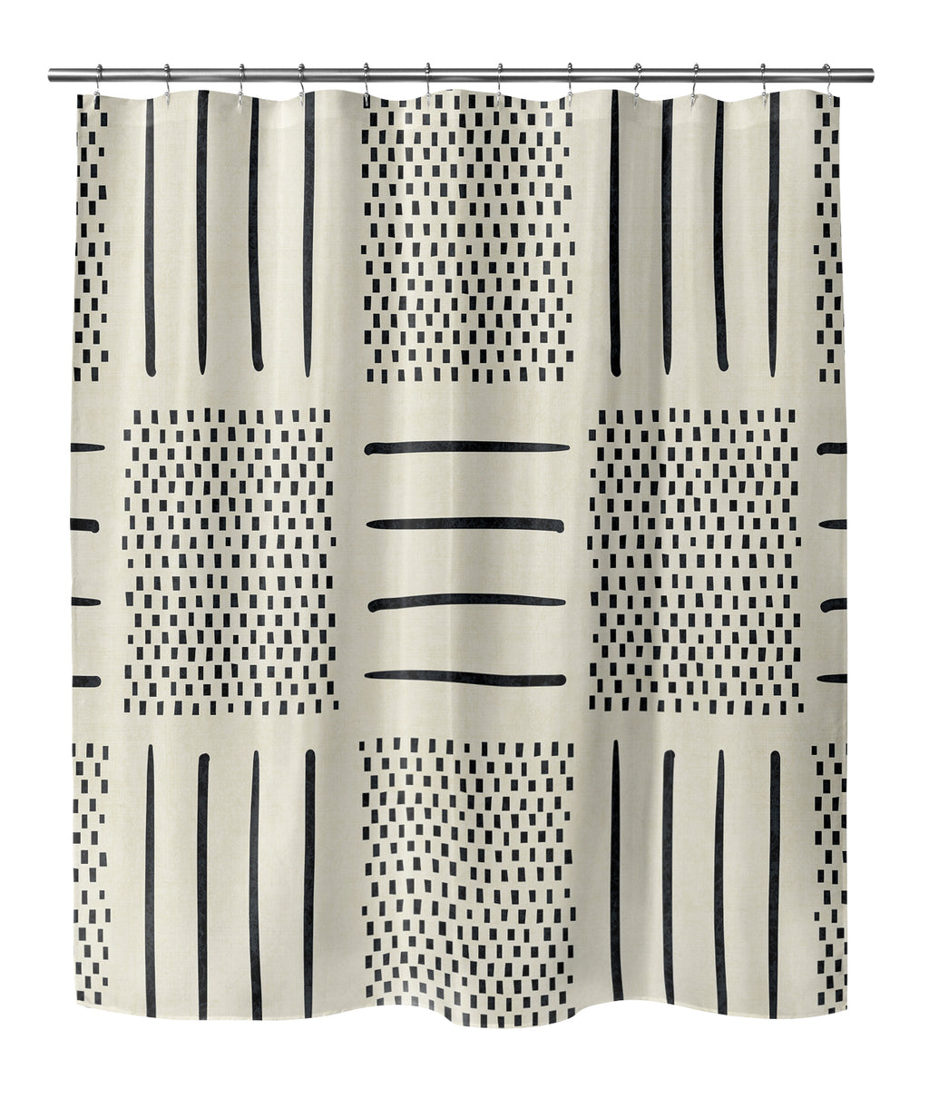IVORY CROSSROADS Shower Curtain By Becky Bailey