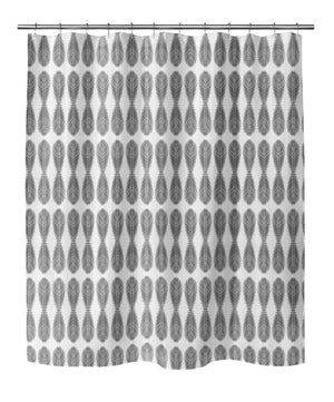 FRONDS B+W Shower Curtain By Becky Bailey