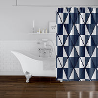 CANE NAVY Shower Curtain By Becky Bailey