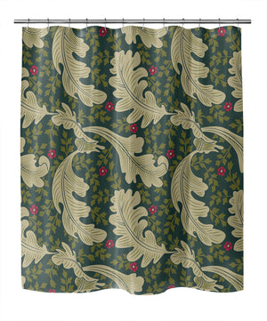 OAK LEAF FLORAL EVERGREEN Shower Curtain By Becky Bailey