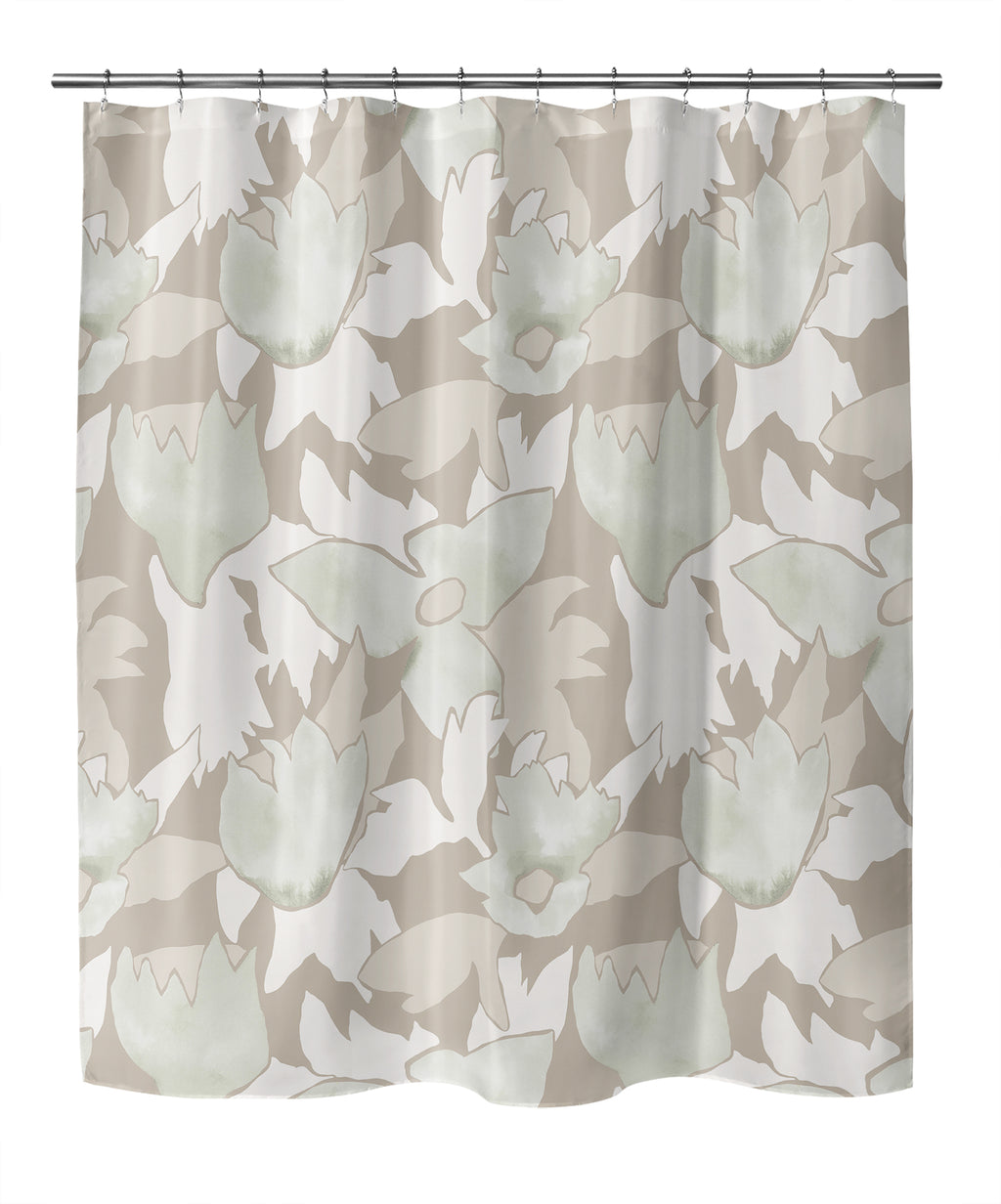 TRILLIUM BEIGE Shower Curtain By Becky Bailey