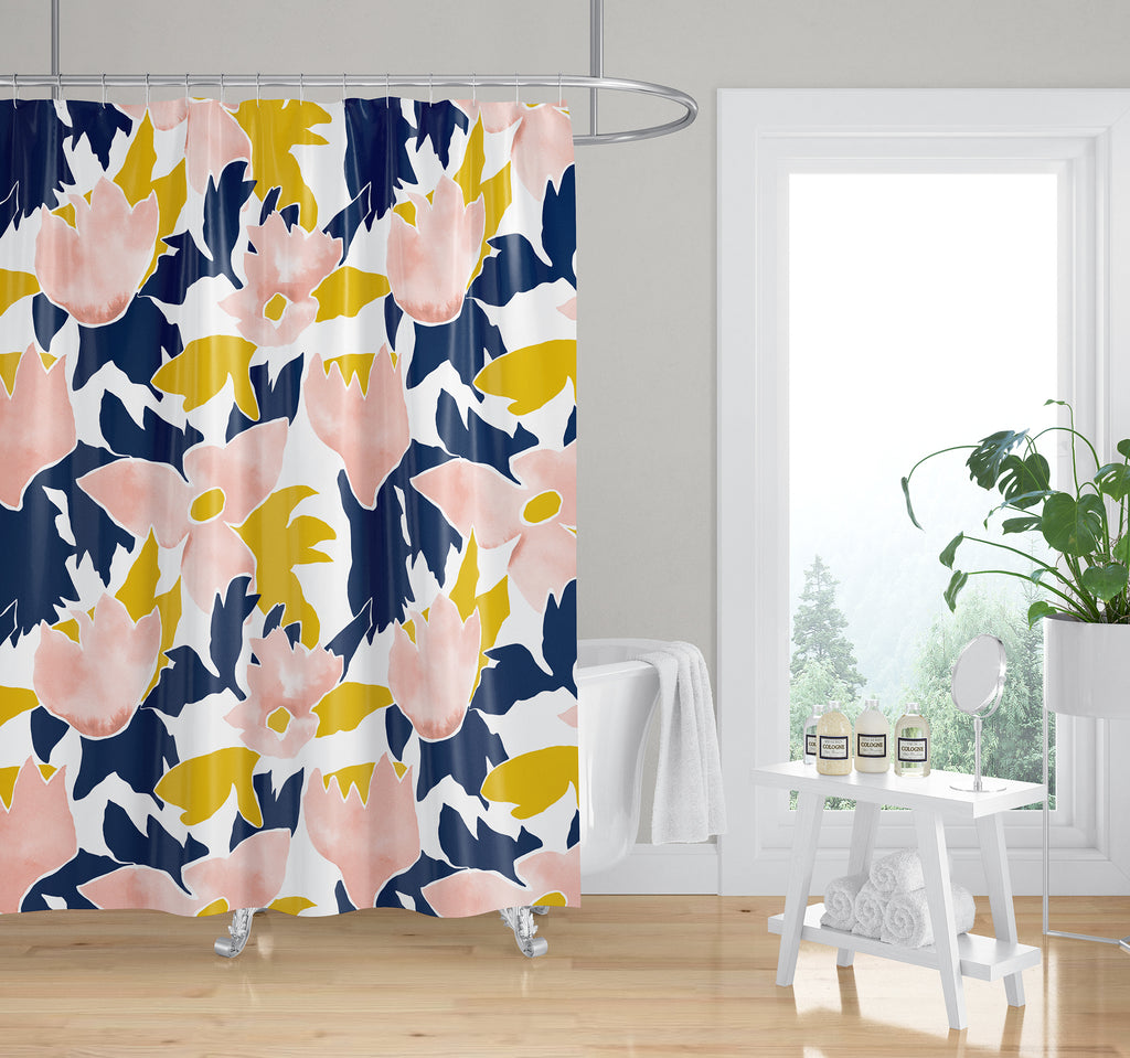 TRILLIUM IN MULTI Shower Curtain By Becky Bailey